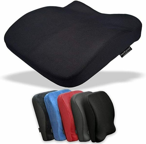 Memory Foam Seat Lumbar Pain Support Booster Car Cushion