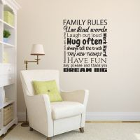 Family Rules Wall Sticker - Quote Wall Decal | eBay