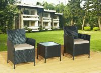 3 Piece Rattan Garden Furniture Outdoor Patio Set Chairs ...
