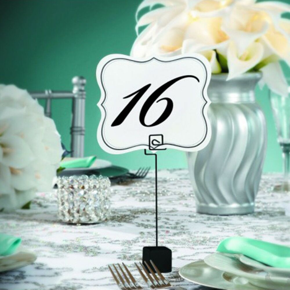 New Table Number Cards 1 To 25 Double Sided David Tutera