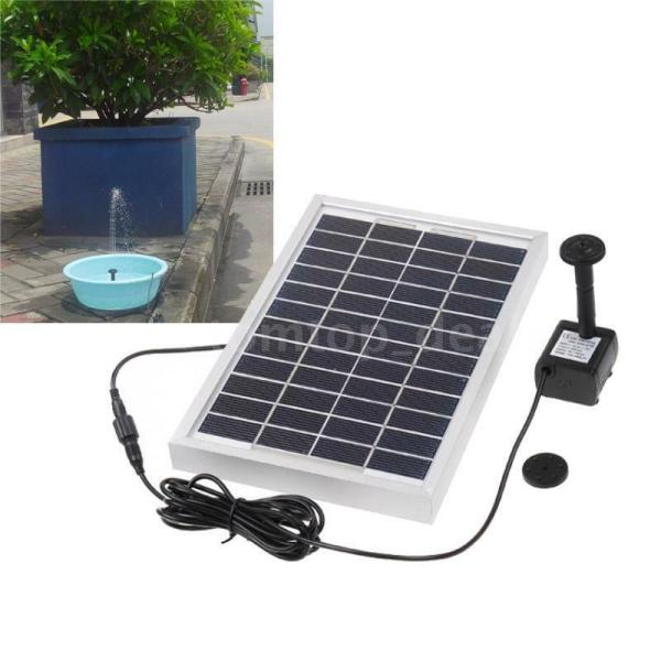 Solar Power Fountain Pond Water Pump Brushless 29x25cm Square 380l 12v 5w Dl