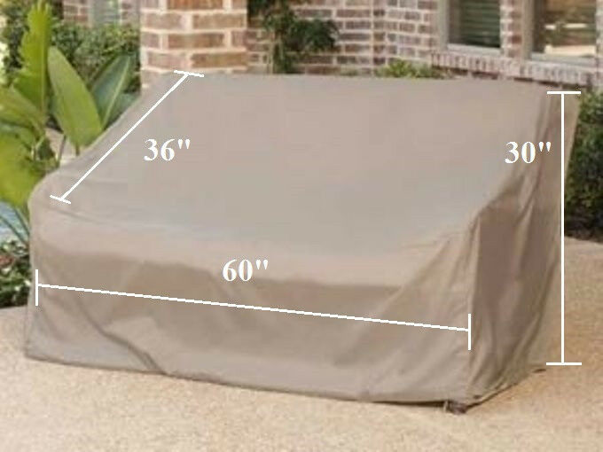 Patio Garden Bench Storage Cover Up To 60 L Outdoor