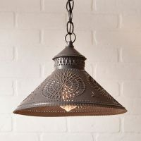 Stockbridge Shade Light in Black Tin w/ Chisel | Country ...