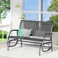 Outsunny Patio Garden Glider Bench 2-person Double Swing ...