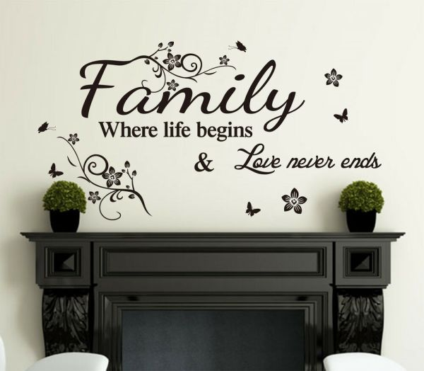 Family Inspirational Wall Art Quotes Vinyl Sticker