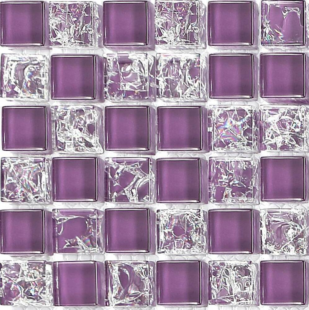 Purple Crackle  Plain Mix Bathroom Kitchen Glass Mosaic Tile Sample MT0070 7081433849025  eBay