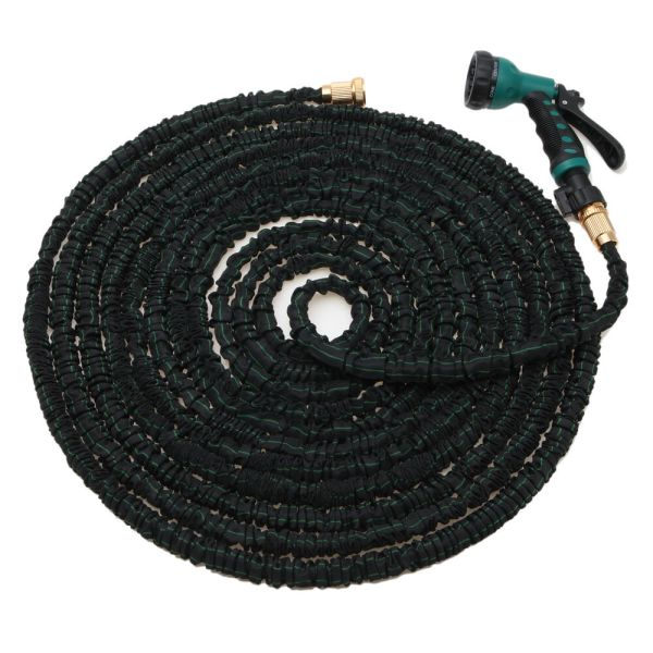 Natural Latex 100 Feet Expandable Flexible Garden Water Hose With Spray Nozzle