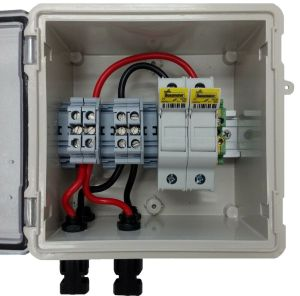 PV Solar 2String DC Combiner Box with 2 fuses  Prewired | eBay
