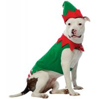 Dog Christmas Costumes Funny Pet Elf Outfit Fancy Dress | eBay