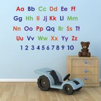Alphabet and Numbers Wall Stickers Pack - educational ...