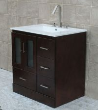 """30"""" Bathroom Vanity Cabinet Ceramic Top with Integrated ..."""
