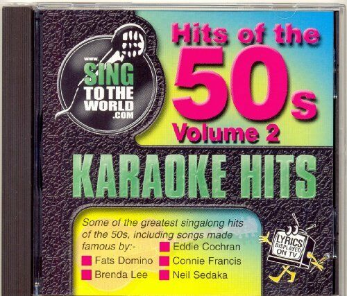 Sing To The World Karaoke Hits Of The 50's Vol 2