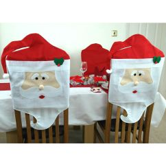 Ebay Uk Christmas Chair Covers Swivel Without Wheels 2 X Santa Dining Father Decorations Xmas Festive Party |