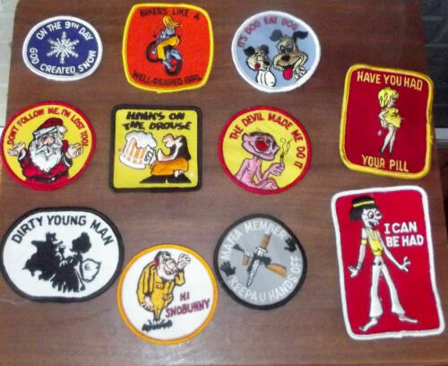 VINTAGE EMBROIDERED PATCHES FUNNY HIPPIE 70S Snowboard