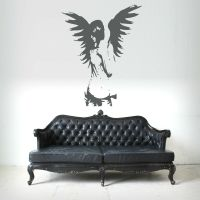 GOTHIC ANGEL FAIRY GIRL ANGEL WINGS wall art sticker