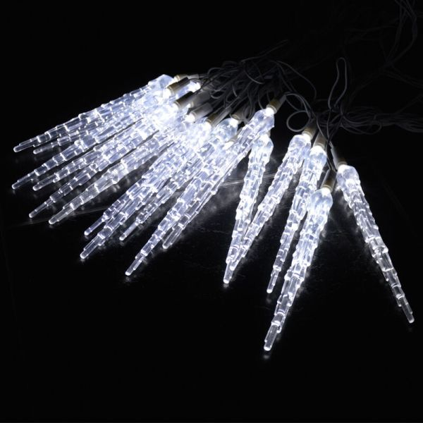 10 METRE CHRISTMAS ICICLE LIGHTS FROZEN ICICLE DROP EFFECT