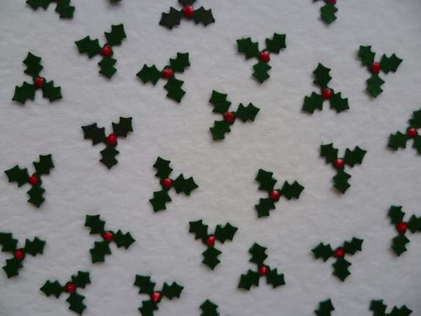 MINIATURE HOLLY WITH BERRY CRAFT EMBELLISHMENTS EBay