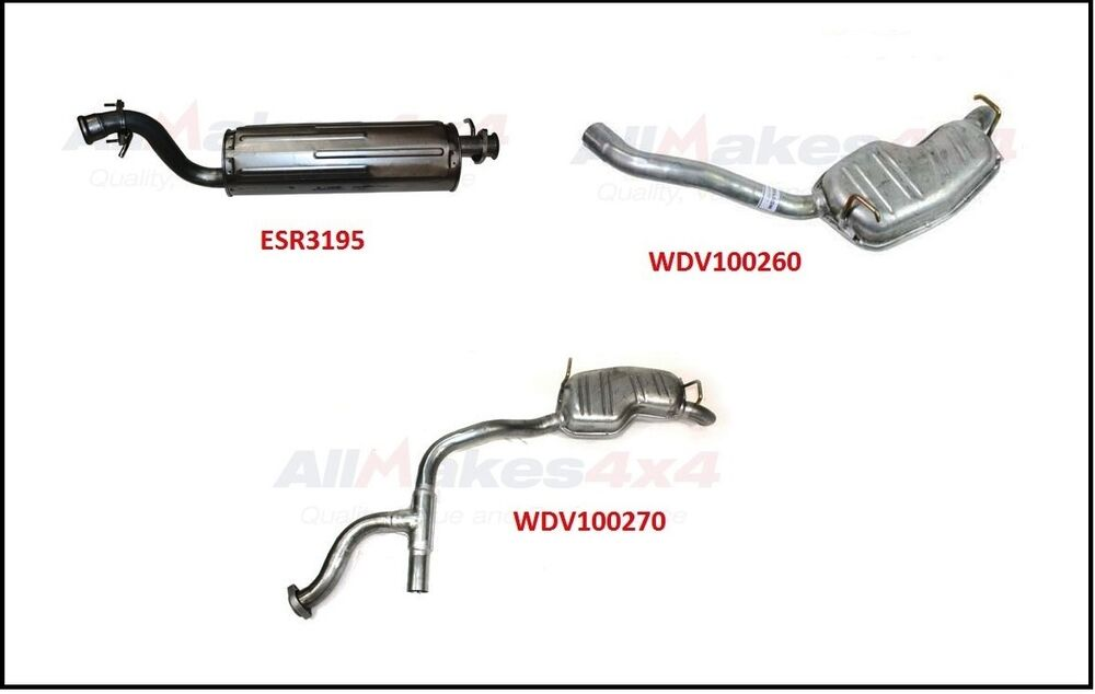 LAND ROVER RANGE ROVER P38 99-02 MUFFLER KIT EXHAUST