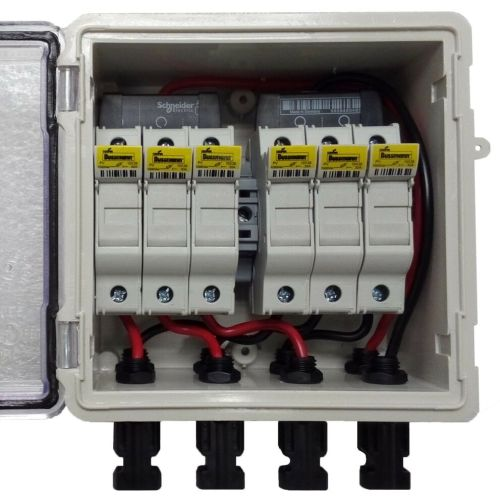 small resolution of pv solar 3 string dc combiner box with 6 fuses