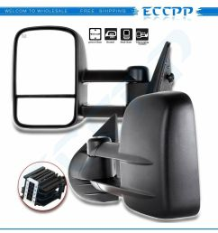 side view tow mirrors manual non heated black pair 2008 2009 2010 2011 2012 2013 eccpp towing mirror replacement fit 2007 2014 chevy silverado  [ 1000 x 1000 Pixel ]
