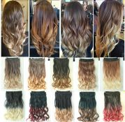 dip dye clip in ombre hair extensions