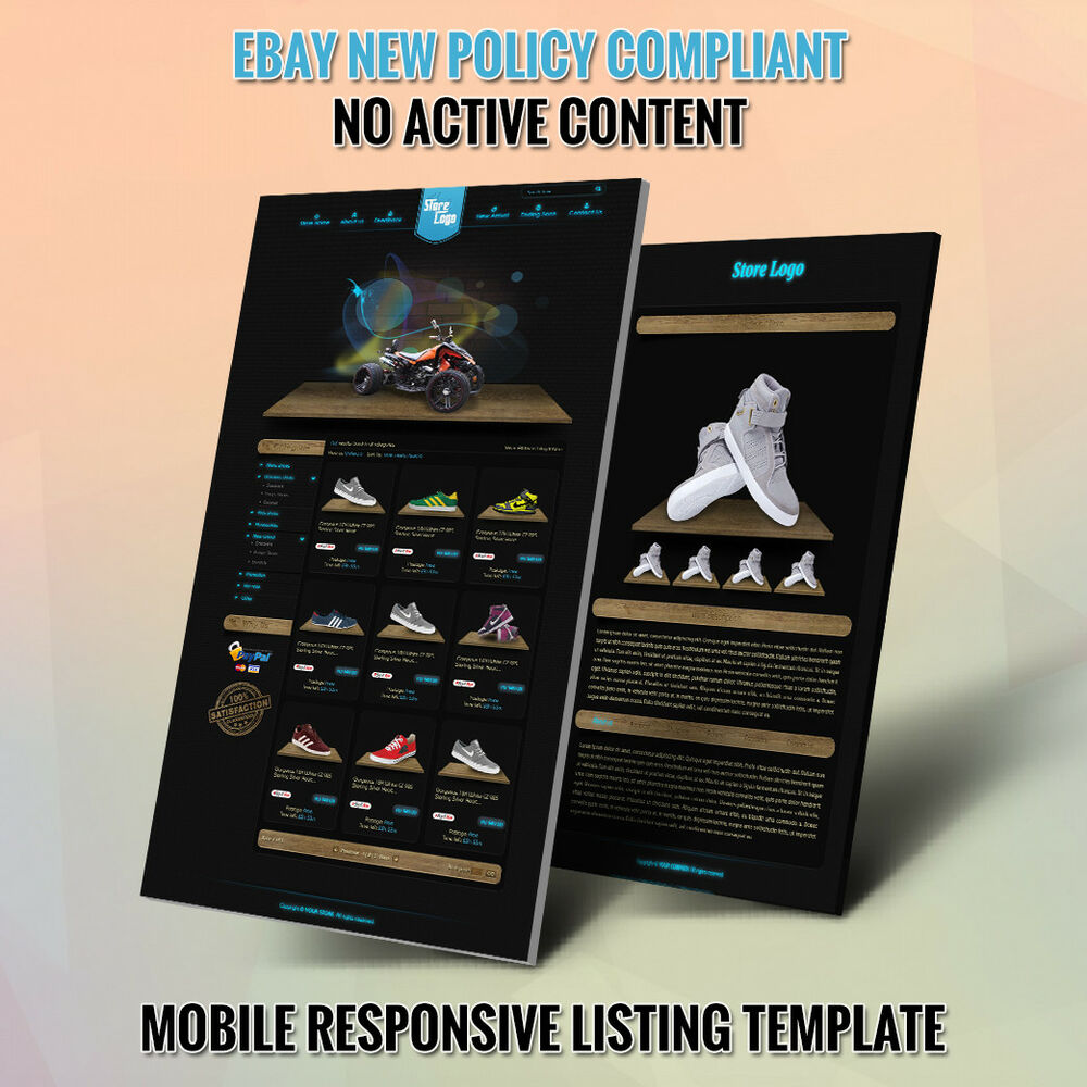 Professional EBay Store Design Template And Listing Auction HTML Templates EBay