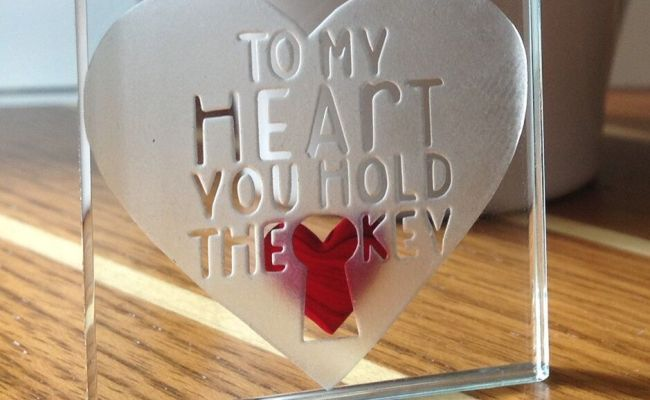 Spaceform To My Heart You Hold The Key Christmas Love Gift