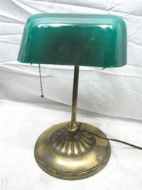 Vintage Emeralite Bankers Student Desk Lamp Light Emerald