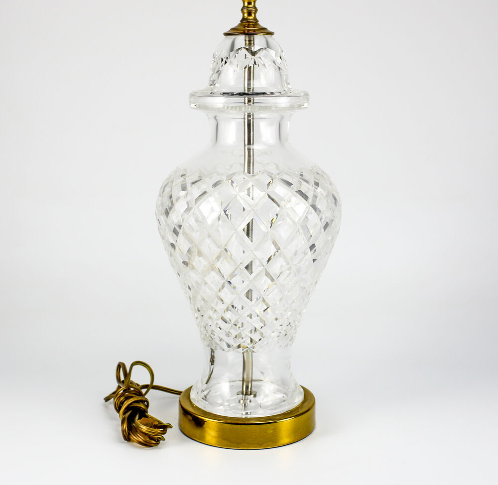 Waterford Crystal Table Lamp, Hollywood Regency Style