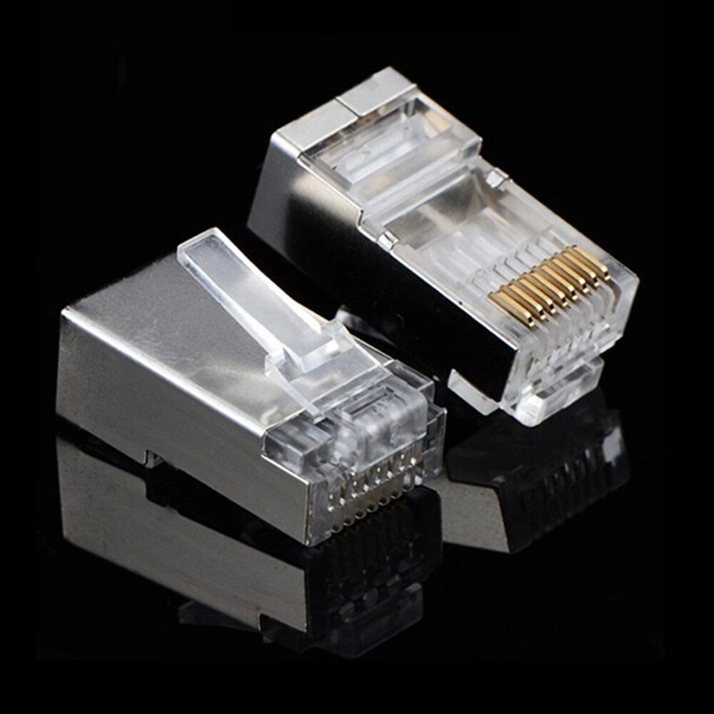hight resolution of 100 pcs lot rj45 8p8c network cable shielded modular cat6 rj11 plug wiring cat5 ethernet cable