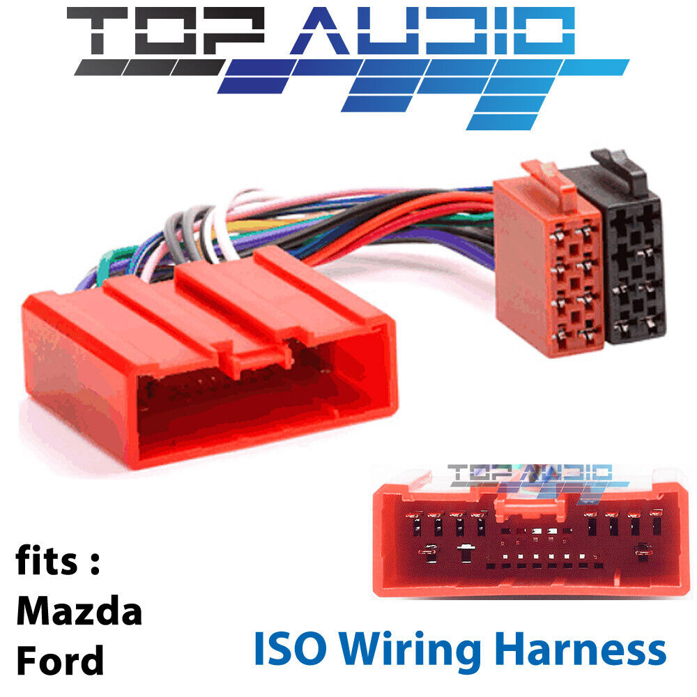 medium resolution of details about mazda tribute rx8 mpv mx5 iso wiring harness adaptor cable connector lead loom