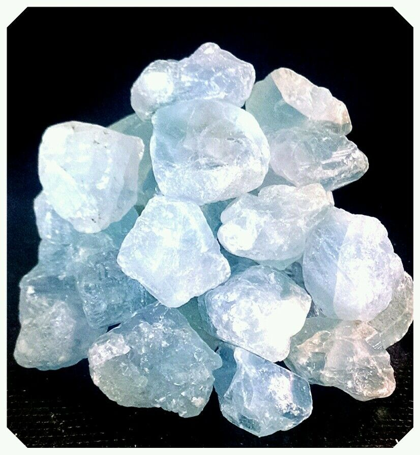 CELESTITE Rough Mineral Points Piece Natural Crystal