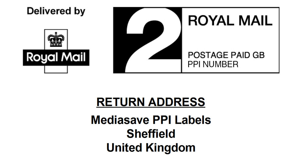 Royal Mail Pre-Printed PPI Labels in 1st & 2nd Class with