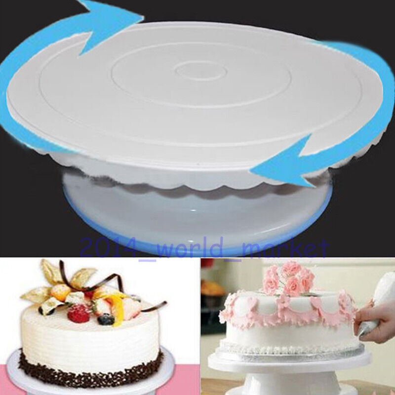 29cm Kitchen Round Cake Decorating Icing Rotating Turntable Cake Stand Tool T  eBay