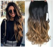 clip in dip dye ombre hair extensions