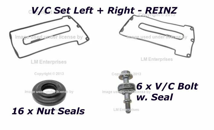 BMW REINZ Valve Cover Gasket KIT Nut Seals+Bolts e38 e39