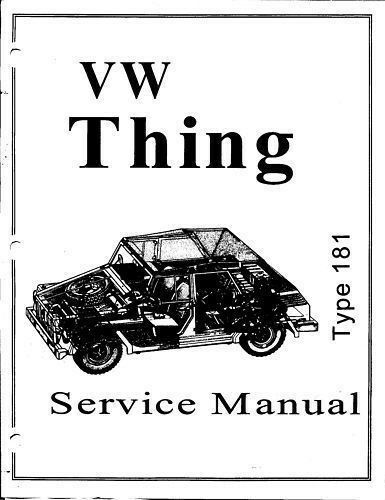 1973 1974 VW Thing Type 181 Service Manual Book Guide PDF