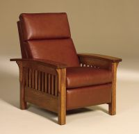 Amish Mission Arts Crafts Recliner Chair Heartland Slat ...