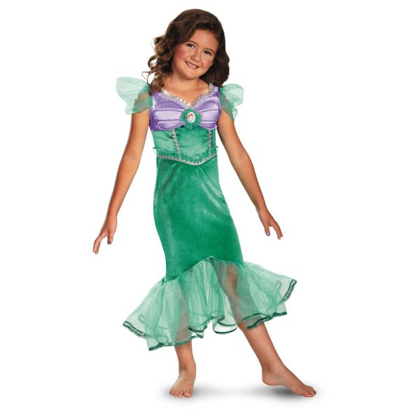 Disney Ariel Costume Little Mermaid Princess Dress Toddler
