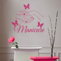 Wall Decals Beauty Hair Salon Nail Art Manicure Vinyl ...