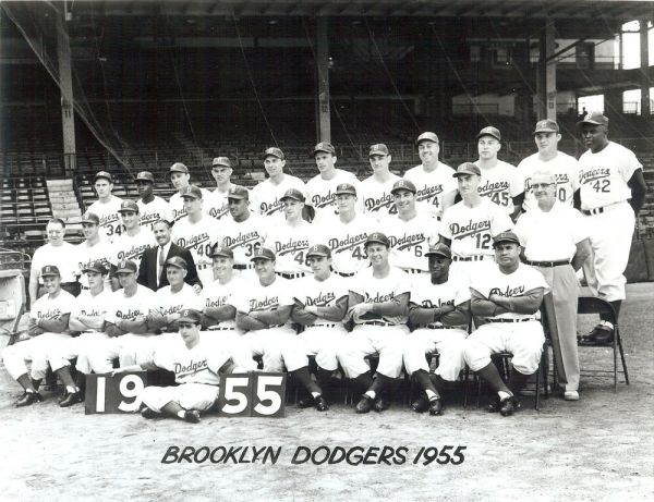 1955 World Champions Brooklyn Dodgers 8x10 outstanding BW