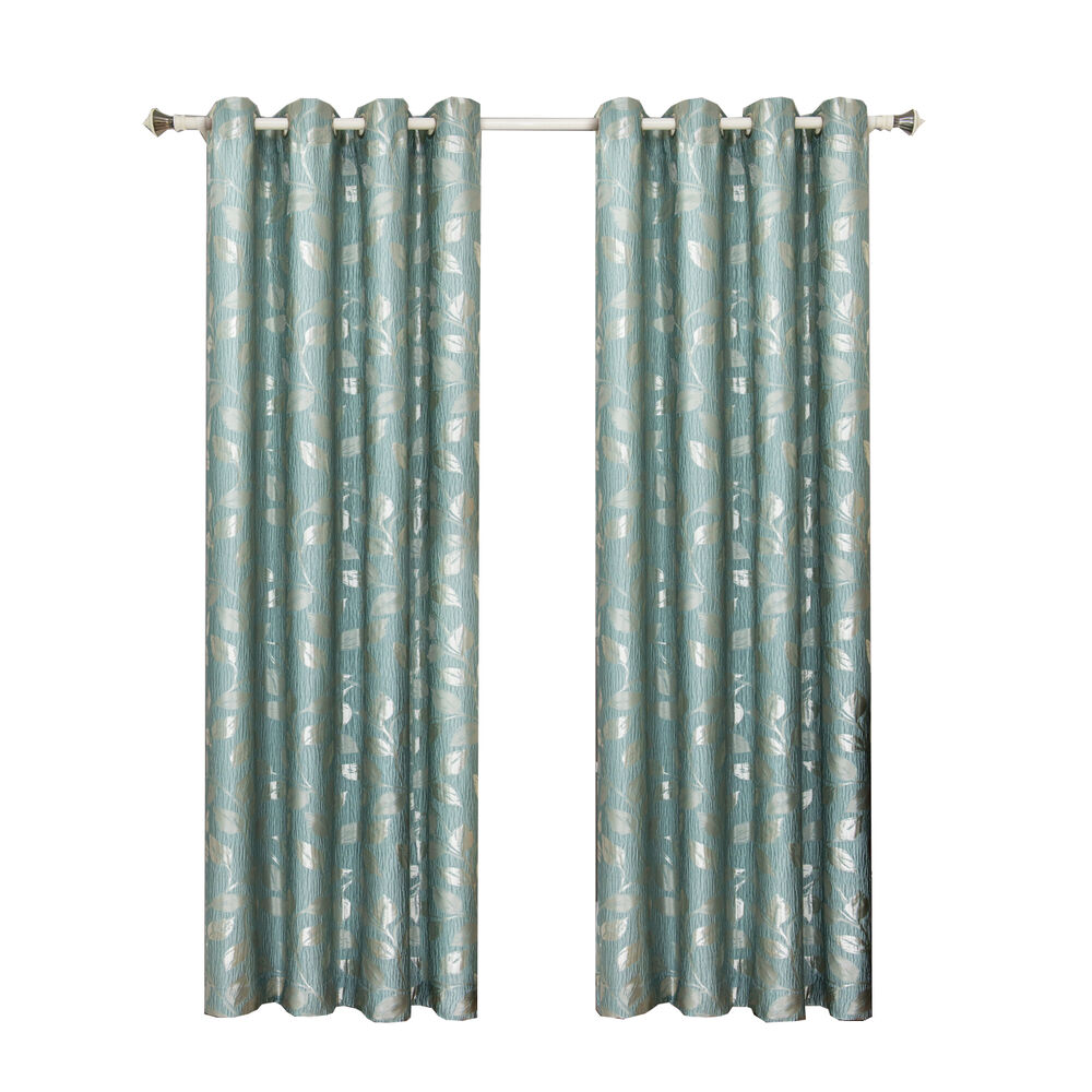 Charlotte Jacquard GrommetTop Curtain Panels Available