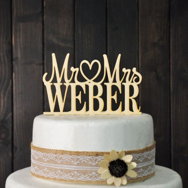 Custom Wedding Cake Topper & Personalized