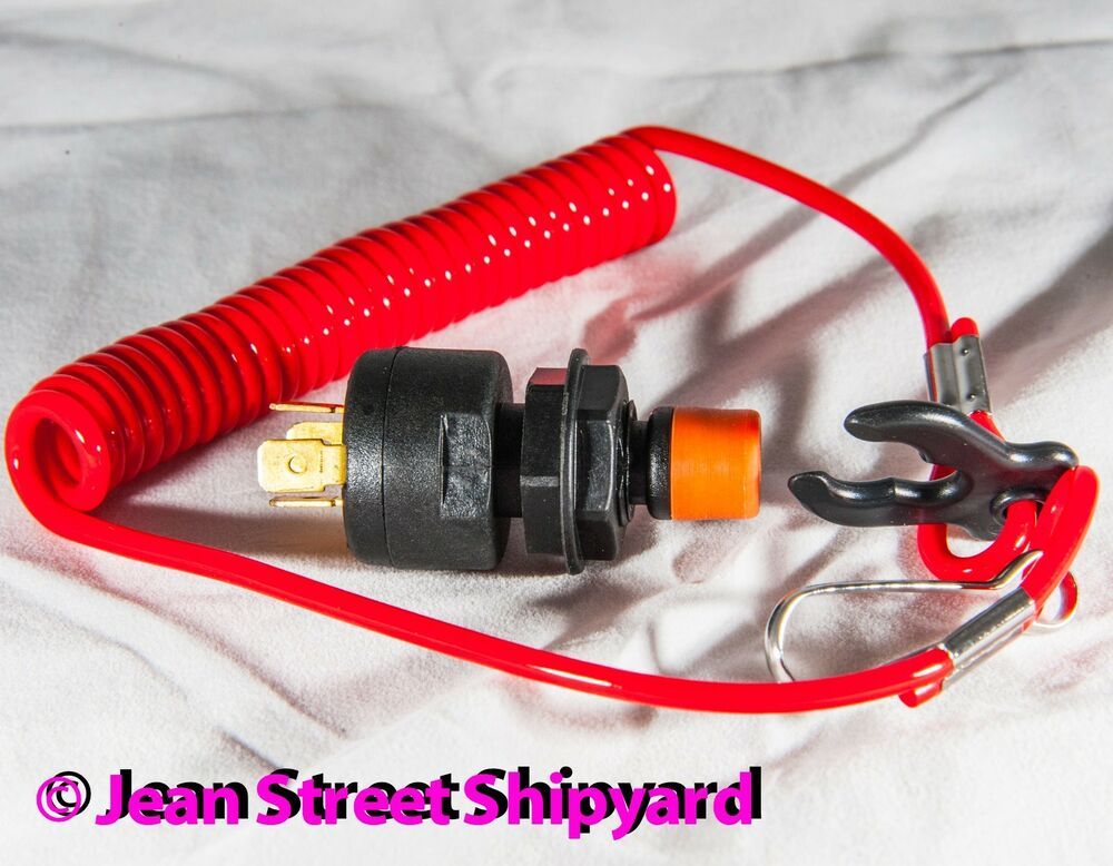 Safety Cut Out Ignition Kill Switch Lanyard Boat Outboard Pwc Ebay