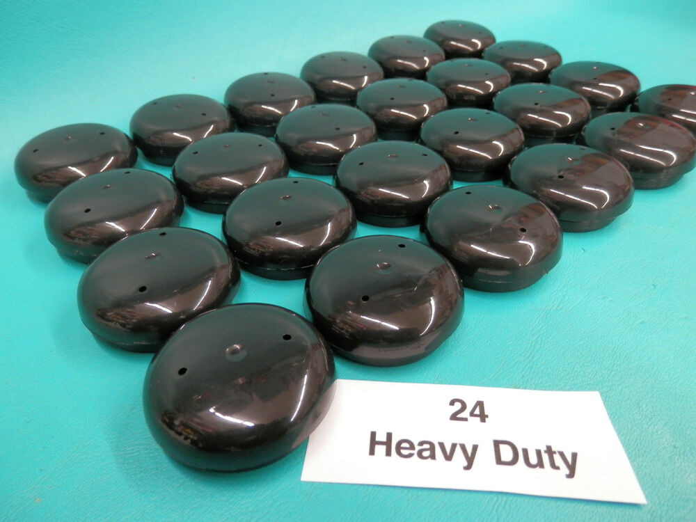 patio chair leg caps swing outdoor 24 plastic black wrought iron inserts 1 5 cups glide 2 ebay
