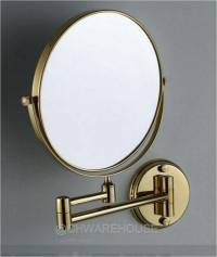 """GOLD 8"""" MAGNIFYING MIRROR FOR BATH, MAKEUP, WALL MOUNTED ..."""