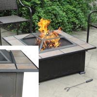 Backyard Fire Pit Ceramic Table Top Antique Bronze ...