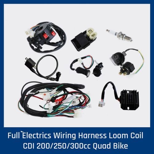 small resolution of details about full wiring harness loom 150 200 250 300cc atv quad buggy electric start engines