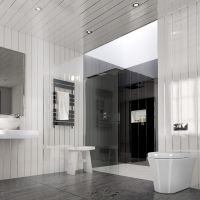 Gloss White Chrome Strip Bathroom Cladding Panels Kitchen ...