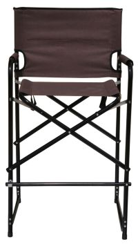 Aluminum Folding Tall Director's Chair by Tra